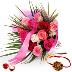 Colorful Roses with Rakhi