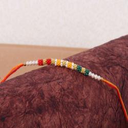 Colorful Tiny Beads Rakhi