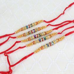 Combo of Five Fancy Beads Rakhi