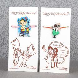 Combo of Two Cartoon Characters Rakhi for Kids-Worldwide