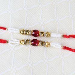 Combo of Two Finest Beads Rakhi