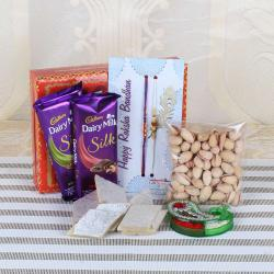 Complete Rakhi GIft of Chocolates and Dryfruits for Brother