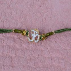 Crystal Beads with Om Rakhi