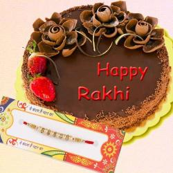Delight Chocolate Cake with Designer Rakhi