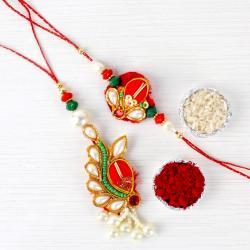 Designer Bhaiya Bhabhi Rakhi Lumba Rakhi