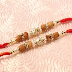 Designer Set of Two Swastika Rakhi