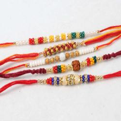 Designer Tiny Beads Rakhi Combo for Brothers