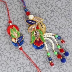 Designer Zardosi Pearl Bhaiya Bhabhi Rakhi