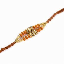 Diamond Rings and Golden Strings Rakhi