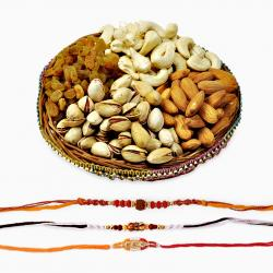 Divine Rakhi Set with Dryfruit