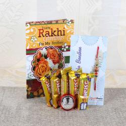 Divine Rakhi with Five Star Chocolate Bars