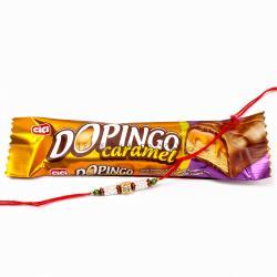 Dopingo Chocolate Bar  with Pearl Rhinestone Beads