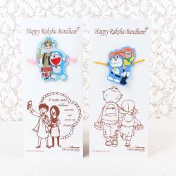 Doraemon with Modi and Nobita Rakhi for Kids