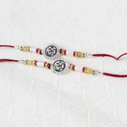 Double Om Ideal Designer Rakhi