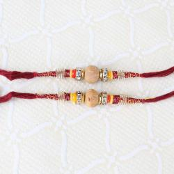 Double Sandalwood Thread Rakhi