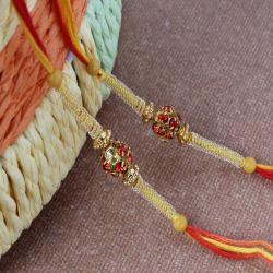 Duet Simple Diamond Studded Rakhi