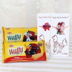 Dukes Waffy with Spiderman and Ganesha Hanuman Rakhi - Canada