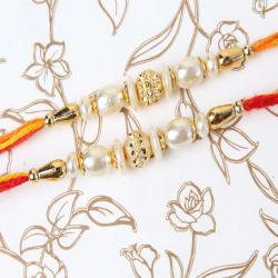 Duo Fancy Pearl Rakhi for Brother