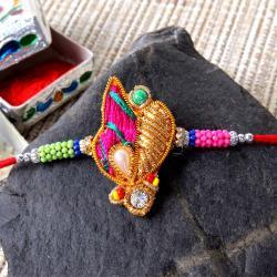Elegant Zardosi Design Rakhi