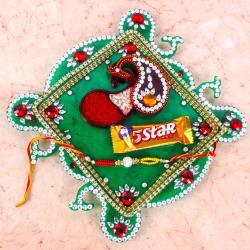 Exclusive Raksha Bandhan Thali with 5 Star Chocolate