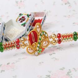 Exquisite Zardosi Rakhi
