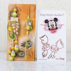 Family Combo of Bhaiya Bhabhi and Kids Rakhi Set