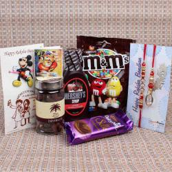 Family Rakhi with Chocolate Hamper Gift