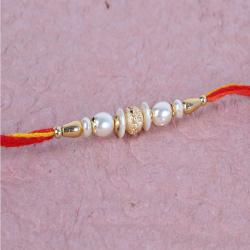 Fancy Pearl Rakhi for Brother