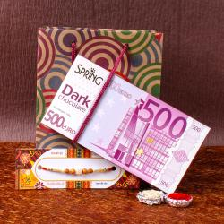 Fancy Rakhi and Spring 500 Euro Dark Chocolate
