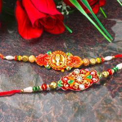 Fancy Rakhi with Ganesha Rakhi