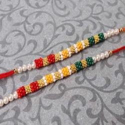 Fascinating Colorful Tiny Beads Rakhi Set