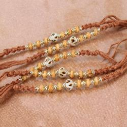 Fascinating Five Wooden Beads Rakhi Combo