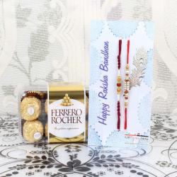 Ferrero Rocher Chocolate Box with Pair of Rakhis