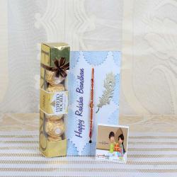 Ferrero Rocher Chocolate with Beads Rakhi
