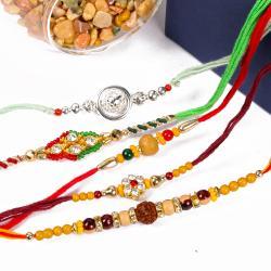 Finest Five Designer Rakhi Combo