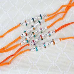 Five Multi Stone Diamond Rings Rakhi