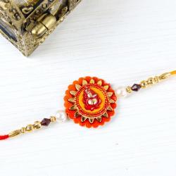 Ganesha Floral Design Rakhi