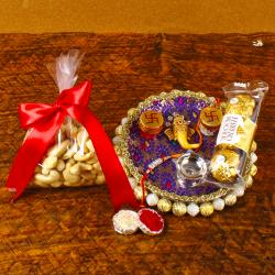 Rakhi With Puja Thali