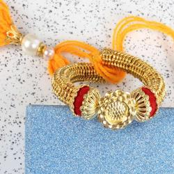 Golden Glossy Lumba Kada for Bhabhi