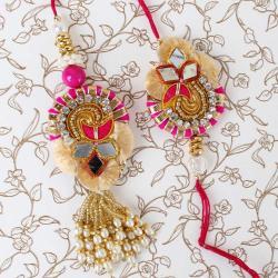 Gorgeous Design Bhaiya Bhabhi Rakhi