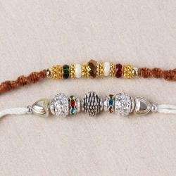 Gracious Two Rakhi of Designer for Brother