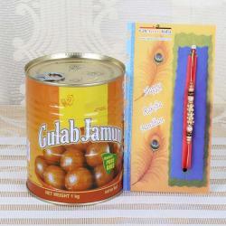 500 Gms Gulab Jamun and Rakhi
