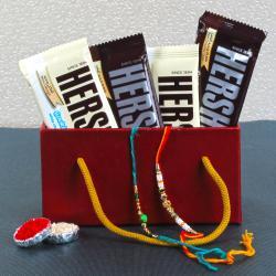 Hersheys Chocolate with Rakhi Combo