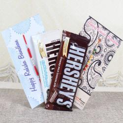 Hersheys Chocolates with Pair of Rakhis