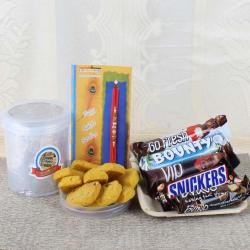 Imported Chocolates with Cookies and Rakhi