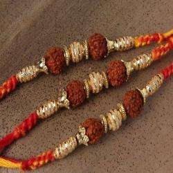 Impressive Triple Rakhi Set For Brothers Online