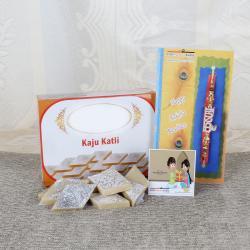 Kaju Katli with Attractive Rakhi Online