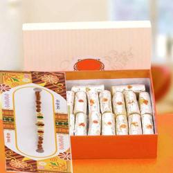 Kaju Roll Sweets with Rakhi Same Day Delivery