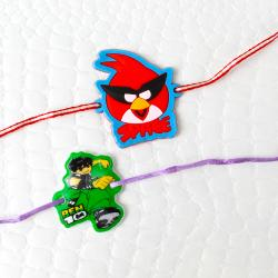 Kids Two Rakhi Set of Angry Bird and Ben 10