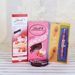 Krishna Rakhi with Lindt Chocolate Hamper